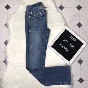 True Religion distressed straight leg jeans sz 26